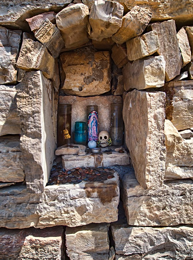 Offerings at Terlingua Cemetery