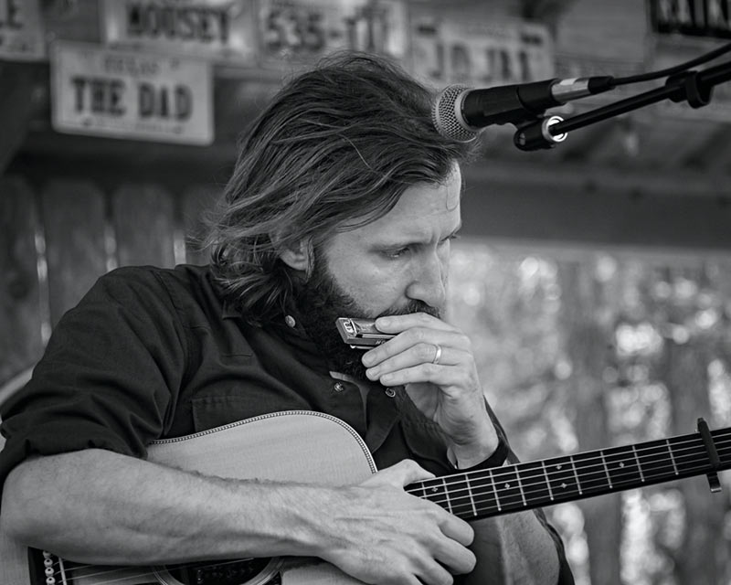 Owen Temple performing in Luckenbach Texas - Image 3