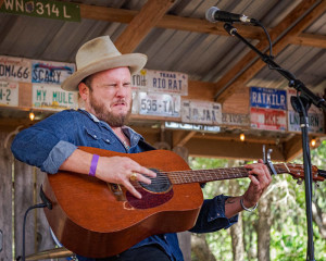 Paul Cauthen performing in Luckenbach - 3