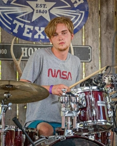 Drummer, Paul Cauthen Band in Luckenbach