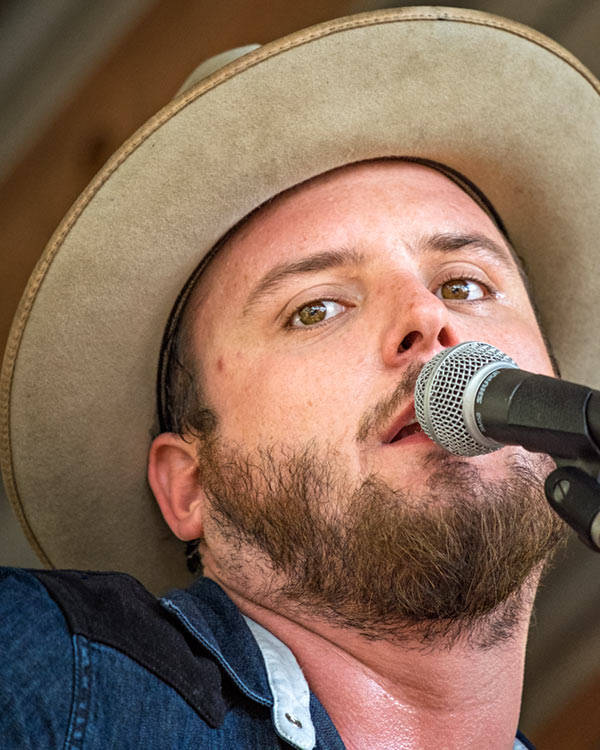 Paul Cauthen performing in Luckenbach - 4