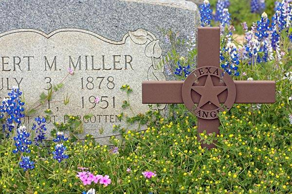 Resting place of Texas Ranger