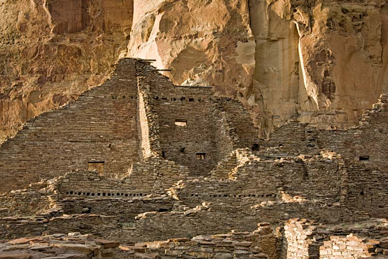 Pueblo Bonito Before Sunset - Chaco Canyon