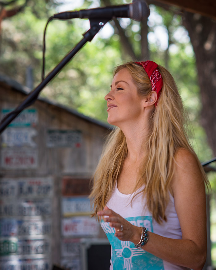 Kristi Grider Onstage in Luckenbach