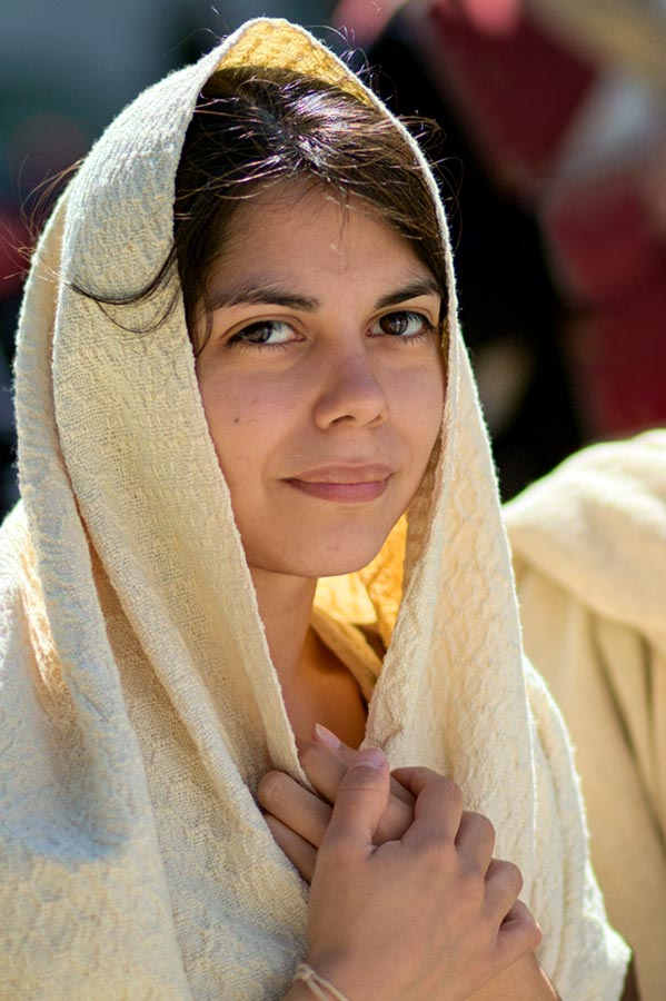 Woman in Shawl